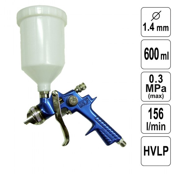 Pistol de Vopsit 1,4 mm -  600 ml - HVLP