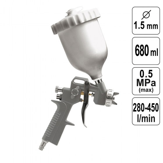 Pistol de Vopsit 1,5 mm -  680 ml - 81618-VR