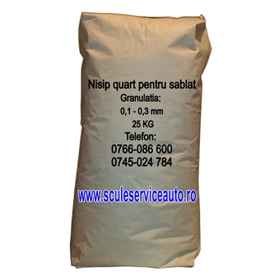 Nisip pt Sablare in Sac de 25.Kg (0,1 - 0,3.mm)