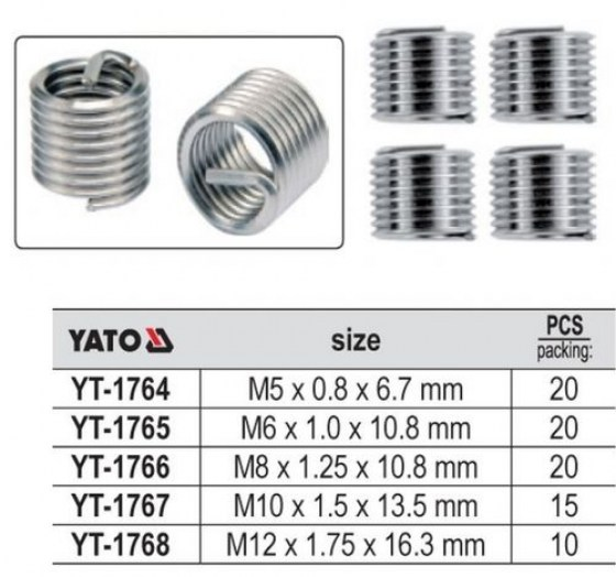 Kit Reparatie Filet  M 5 x 0,80 x 6,7.mm  YT-1764